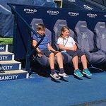 Son & Daughter in coaching enclosure