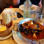 Bouillabaise with gluten free bread