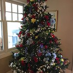 summer christmas tree with beautiful flowers