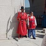 Guard at the entrance