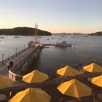 View from the Reading Room in Bar Harbor