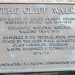 Sign at the beach entrance to the Cliff Walk - Newport, RI