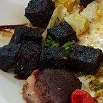 Burnt black pudding