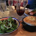 Beef Curry Pie with a salad