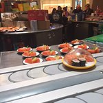 Fresh salmon on the belt