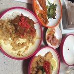 Katsu curry, squid