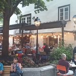 outside dining at Le Lapin Saute