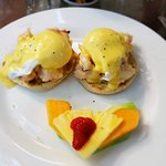 The delicious Lobster Benedict