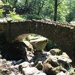 Aira Force -bridge next to waterfall