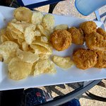 the fried scallops -