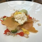 The white crab mille feulle starter.