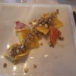 Ravioli di triglia con melanzane
