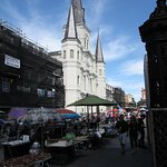 Jackson Square New Orleans - St Louis Cathedral on Square