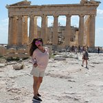 Perfect day on top of the Acropolis of Athens