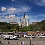 St Louis Cathedral New Orleans - From Military Battery Park Over Jackson Sq
