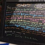 The menu as written up for today, July 15, 2018!