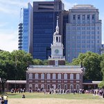 Independence Hall from the front, seen from the Visitor Center. A great historical neighborhhod.