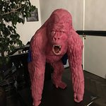 The Pink Ape on our way down!