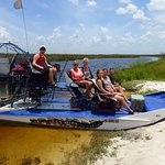 Scharling Pedersen, Denmark, on an airboat trip with Everglades Nature Tours