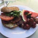 Breakfast sandwich... 2 Thumbs up!