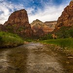 Virgin River in Zion before the flood July 2018