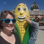 Because hugging corn is a thing