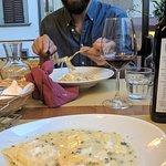 Primi, pasta ricotta and pasta carbonara