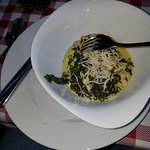 Creamed spinach with horseradish