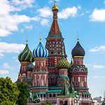 St Basil Cathedral from Red Square on a Mid Day
