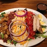 Cobb salad with shrimp and chicken
