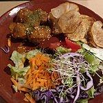 Falaffel with potato and salad