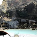 A beautiful view of our surroundings while dining at Lava.