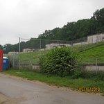 The overgrown grandstands