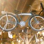 Old bicycle on display.