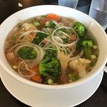 Vegetarian Pho with tofu $10