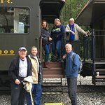 boarding the White Pass & Yukon Route train to Fraser - start of our private tour