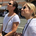 Outstanding knowledge of all of Rome by our guide Giulia (right)