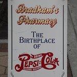 Sign outside Bradham's Pharmacy