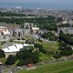 Fantastic view of the parliament and Holyrood Palace