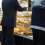 Nata Fina pastry counter....Lisbon.
