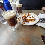 Banas Foster Beignet Fries and Coffee Drinks