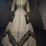 a dress at the Fashion Musuem