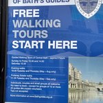 Tour details at the starting point.