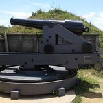 Cannon on top of the breastworks.