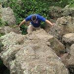 Starting the rock scramble.