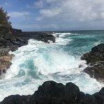 Waves crashing on the rocks - west end