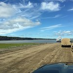 wait at the MacKenzie River ferry crossing
