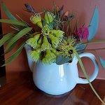 flower arrangement in a jug