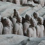 Close up of the individually unique Terracotta Warriors