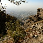 View to the city of Teheran from around 2000 m.